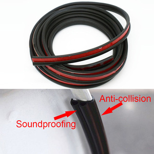 Image 4 - Car Door Seal Strip Stickers Anti Dust Soundproof Sealing BJ Type Noise Insulation Auto Interior Accessories Styling Rubber