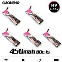 GAONENG GNB 450mAh 3.7V 1S 80C 4.35V HV 배터리 PH2.0 화이트 플러그 E010 Emax 프리 스타일 RC FPV Cine Whoop BetaFPV 무인 항공기
