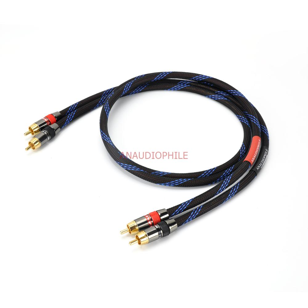 Câble Audio HiFi RCA mâle à RCA câble mâle paire câble dinterconnexion RCA OFC