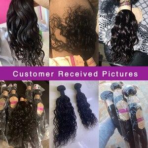 Image 5 - Monika Haar Braziliaanse Water Wave Bundels 100% Human Hair Weave Bundels Niet Remy Haar Bundels 28 Inch Natuurlijke Kleur haarverlenging