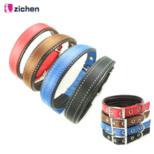 Zichen Pet Dog Collar Adjustable Leather Reflective Double Layer Nylon Durable Necklace Training Supplies 5 Color S-M-L