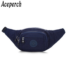 ACEPERCH Women Men Nylon Waist Pack Adjustable Chest Bags Girl Sports Hip Money Belt Bag Travel Mobile Phone Fanny Pack Bum Bags(China)