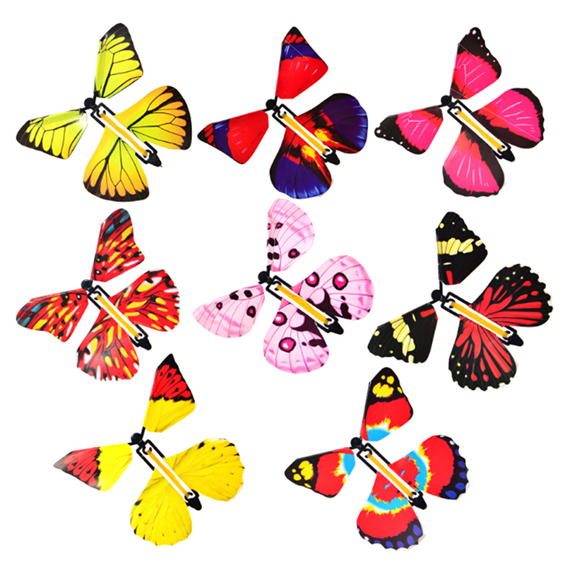 1Pc Magic Toys Transformation Fly Butterfly Props Magic Tricks Change Hands Funny Prank Joke Mystical Fun Classic Toy Gift
