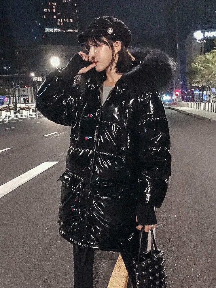 Winter Coat Women White Duck Down Jacket Women Puffer Jacket Warm Parka Big Fur Collar Down Coat KHLM1901-1 YY1430