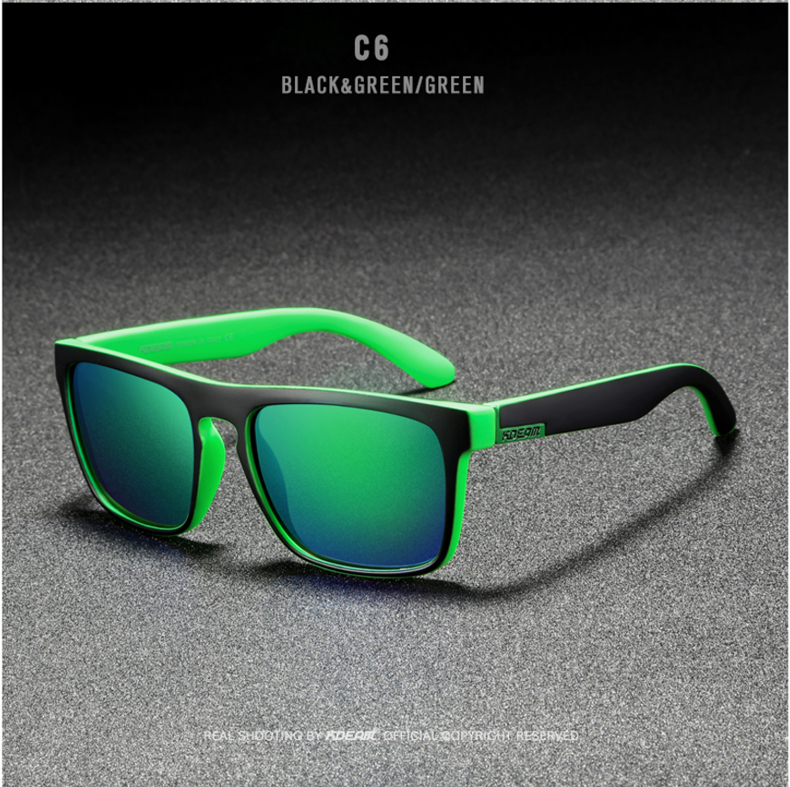 H6649f730bfc14a38ad8e80b7782028d4N - New KDEAM Mirror Polarized Sunglasses Men Ultralight Glasses Frame Square Sport Sun Glasses Male UV400 Travel Goggles CE X8