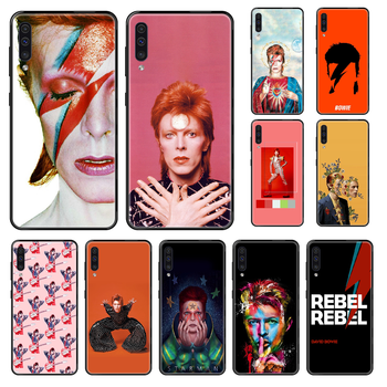 Rock David Bowie Phone case For Samsung Galaxy A 3 5 8 9 10 20 30 40 50 70 E S Plus 2016 2017 2018 2019 black soft prime luxury image