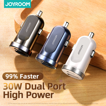 JOYROOM Car Charger 30W Quick Charge 3.0 PD mini Fast Car USB Charger Adapter For iPhone 11 Pro Max7 8 Plus Xiaomi Redmi Huawei