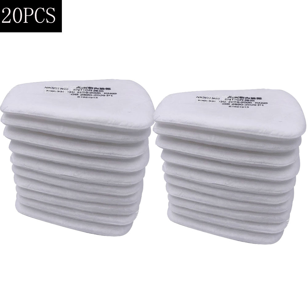 20Pcs 5N11 Industry Dust-proof Filter Cotton Replaceable For 6001/6200/7502/6800 Chemical Respirator Gas Mask Spraying Painting