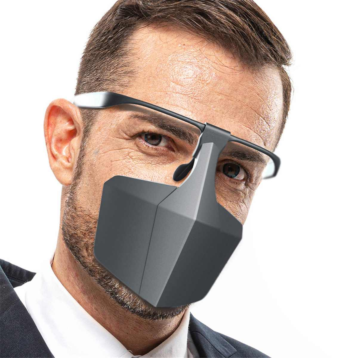 Oudoor Sports Cycling Face Mask Plastic Mouth Mask Protection Antifog Respirator Breathable Reusable Face Masks Protective Cover