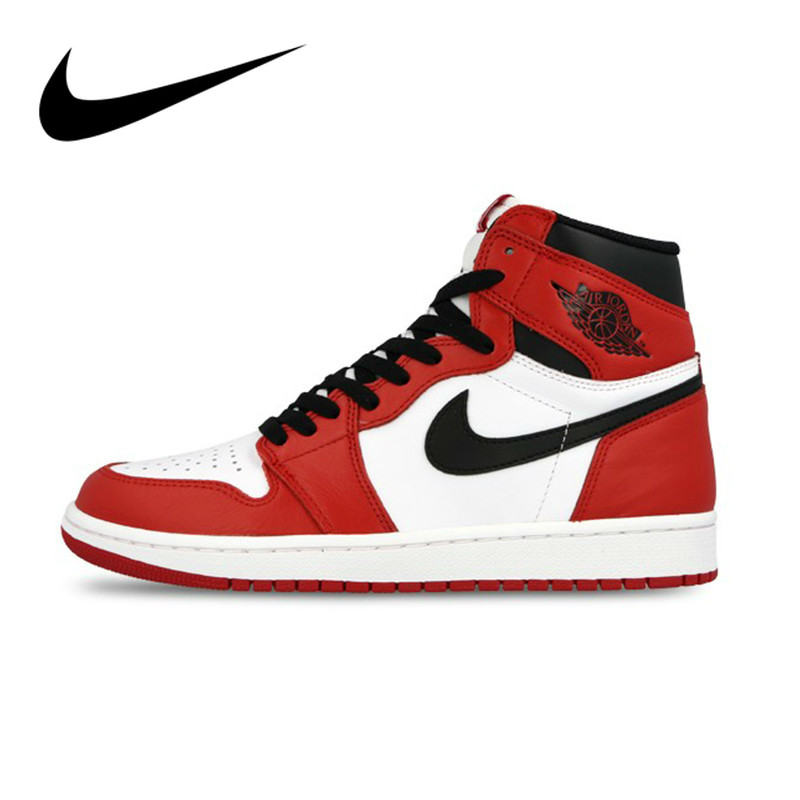 new styles low price better US $140.0 30% OFF|Original Authentic Nike Air Jordan 1 Retro High top OG  Men's Basketball Shoes Good Quality Athletic Designer Footwear 555088  101-in ...