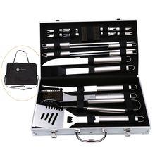 20 шт/компл набор инструментов для барбекю с алюминиевым хранилищем