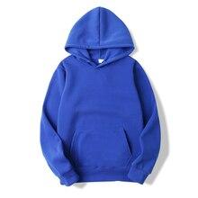 2020 Hot Sale Fashion Fall Winter Men's Hooded Solid Color Blank Men's Hooded Casual Sweatshirt European Size S 3XL