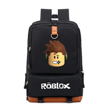 2019 Robloxer game casual backpack for teenagers Kids Boys Children Student School Bags travel Shoulder Bag Unisex Laptop Bags недорого