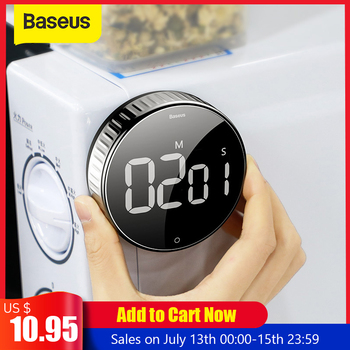 Baseus Digital LED Timer Kitchen Magnetic Countdown Count Down 99 Minutes 55 Seconds Cooking Alarm For Cooking Teaching Meeting