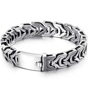 Image 5 - Big Size 20/22/24 Cm Lange Zware Rvs Armband Mannelijke Mens Chain Armbanden Metal Bangles Voor mannen Enorme Hand Sieraden Nieuwe