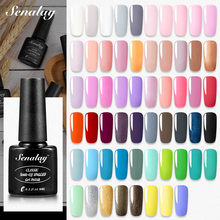 SENALAY del Gel del chiodo polacco Del Gel Vernici Hybrid base top coat Manicure set per Opaco paiting arte del chiodo HA CONDOTTO LA lampada UV smalto di chiodo del Gel(China)