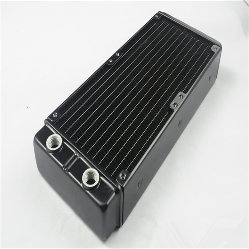 G1/4 120mm 240mm 45mm Thickness Aluminum Water Cooling Radiator R120Y Double-deck