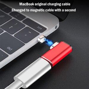 Image 5 - Ranipobo 87W מגנטי USB C מתאם עבור MacBook Pro 15 אינץ 6 סיכות מרפק USB סוג C תשלום מחבר עבור סמסונג USB מתאם