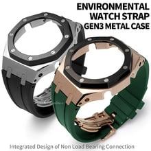 Gen3 modificação acessórios de GA-2100 ga2110 3rd borracha pulseira de relógio & caso metal 316 aço inoxidável moldura pulseira ga2100