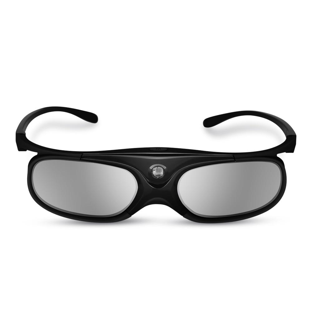 BOBLOV Active Shutter 3D Glasses DLP-Link USB Blue Compatible BenQ W1070 W700 Dell Projector 3D Glasses for Projector DLP