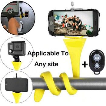 Flexible Selfie Stick Monopod Wireless Bluetooth Tripod with Remote Control Monkey Stick Holder For iPhone X 7 Xiaomi mi 9 Redmi