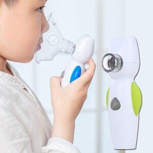 Image 2 - Ręczny nebulizator dla dziecka dziecko domu powietrza anioł nebulizator przenośna siatka parowy inhalator Atomizer medyczne gospodarstwa domowego parownik