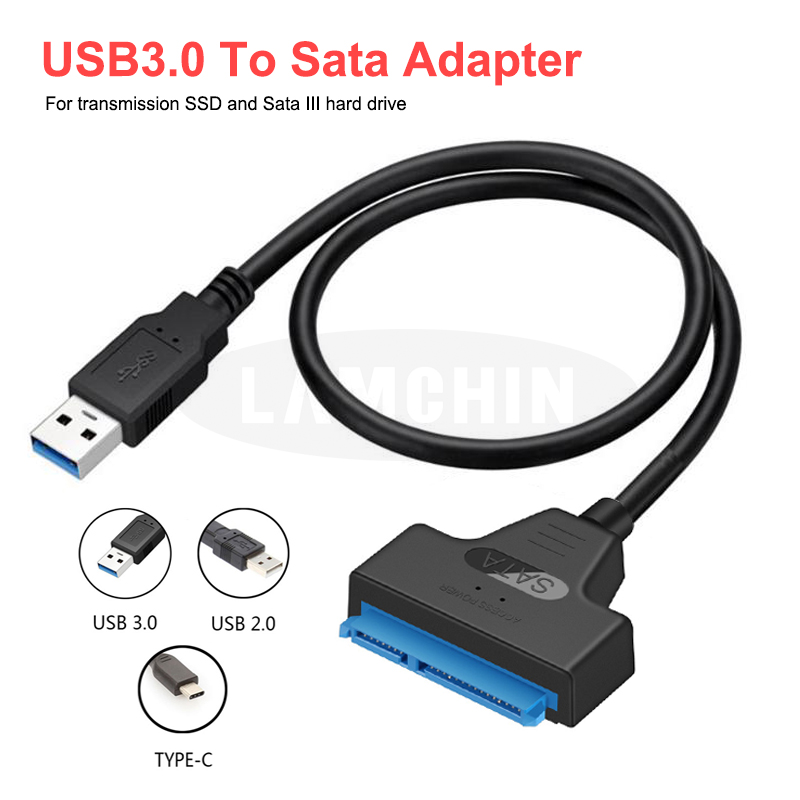 USB 3.0 Adapter Suport 2.5 Inches External SSD HDD Hard Drive 22 Pin Sata III Cable Sata USB Cable Sata To USB Sata 3.0 Adapter