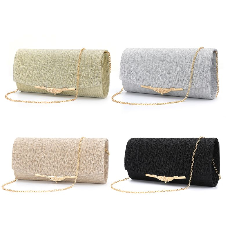 Women's Evening Shoulder Bag Bridal Clutch Party Prom Wedding Envelope Handbag title=