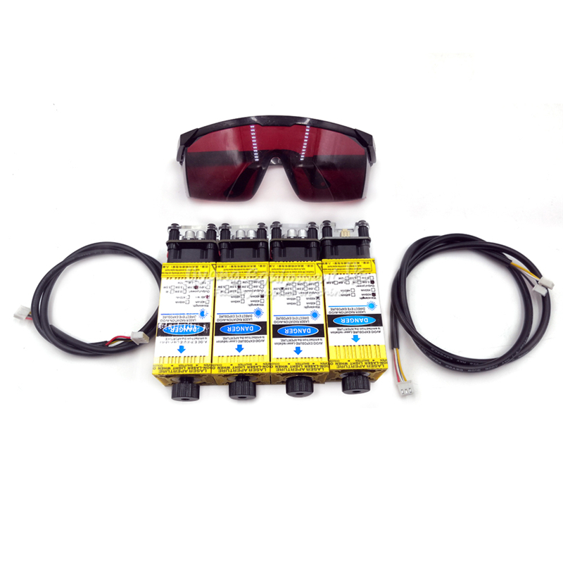 <font><b>diode</b></font> <font><b>laser</b></font> module TTL PMW mix control 405NM <font><b>450NM</b></font> blue purple <font><b>laser</b></font> with goggles wires for <font><b>laser</b></font> engraving machine DIY use image