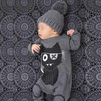 Ropa de dibujos animados para bebé, peleles de algodón de manga larga para recién nacido, mono, trajes de dormir para niño, disfraz para niño T07