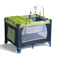 Baby crib Game bed Diaper table Baby bed Multifunctional crib Foldable Portable With rollers Easy to fold and travel