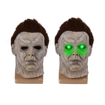 Halloween Michael Myers Mask Scary Mask Headgear Cosplay Props Demon Mask Headgear Accessory scary halloween adult cave demon mask the faun skull skeleton mask