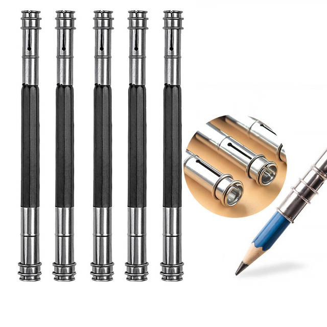 Harilla 2 Pcs Fashionable Design Pencil Pen Extender Pencil Extender Extension