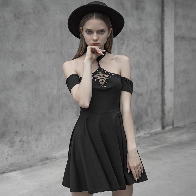 Punk Rave femmes Goth licou princesse coupe balançoire robe PQ598LQ asie taille (S-L)