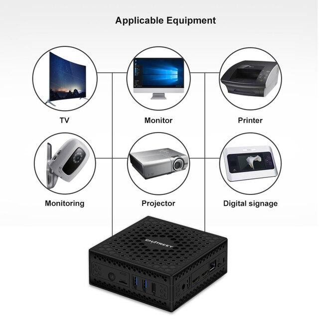 Chatreey AC1-Z Fanless mini pc intel J3455 J4125 Quad core windows 10 linux Dual HDMI  industrial computer HTPC 5