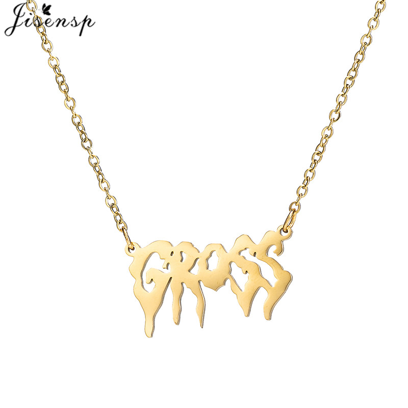 Gothic Punk Girls stainless steel Harajuku Necklaces