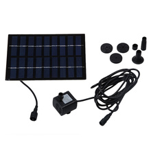 1.8 W Solar Water Pump Outdoor Watering Submersible Water Fountain for Pond Pool Aquarium Fountains Spout Garden Patio Maximum F
