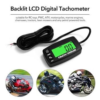 LCD impermeable ligero portátil retroiluminado Digital tacómetro medidor de horas tacómetro anemómetro