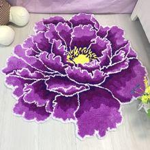 Новое поступление, цветочный ковер, ворсистый розовый коврик, цветочный ковер, ворсистый ковер для гостиной