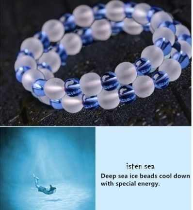 人工水晶ブレスレット深海アイスビーズチェーンクールダウン 12 色のギフト女性レディース美しいエレガントな