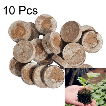 New 1/5/10pcs Nursery Soil Garden Flowers Planting The Soil Plant Seedlings Peat Cultivate Seed Migration Tool image