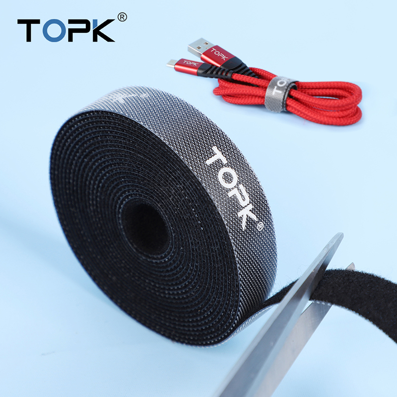 TOPK Cable Protector Nylon Magic Sticker Cable Organizer Wire Winder Earphone Mouse Cord Management For IPhone Samsung Xiaomi
