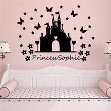 Милые наклейки на стену из ПВХ с именем принцессы для детской