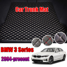 Leather Car Trunk Mat BMW E90 F30 G20 Carpet Tail Cargo Liner For BMW 3 Series 2004-2020 Trunk Boot Mat 3Srieis 2011 Liner Pad