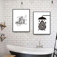 Черно белые распечатанные плакаты с надписью «wash your hands