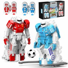 цена на Soccer Robot Smart RC Robots Cartoon Remote Control Toys Electric Football Robot Indoor Toys for Children Christmas Gifts