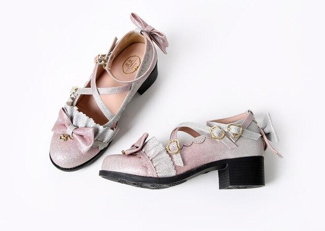 Купить аниме косплей туфли лолиты в винтажном стиле с круглым носком картинки цена