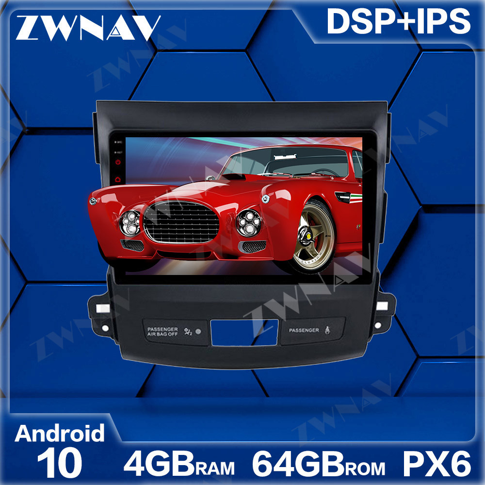 PX6 4+64 Android 10.0 Car Multimedia Player For <font><b>Mitsubishi</b></font> <font><b>Outlander</b></font> 2007-2012 Navi Radio navi stereo IPS <font><b>Touch</b></font> <font><b>screen</b></font> head unit image