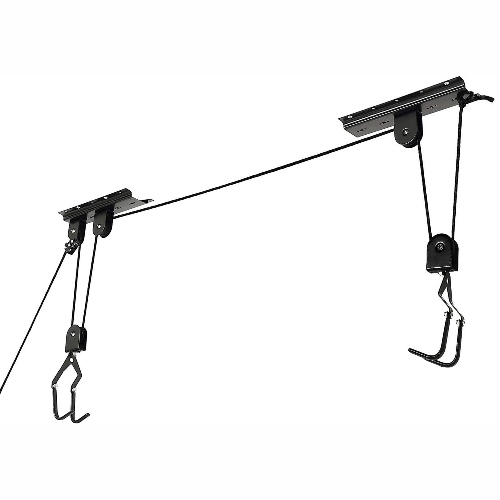bike lift bicycle hanging display rack for garage ceiling storage with hook rope