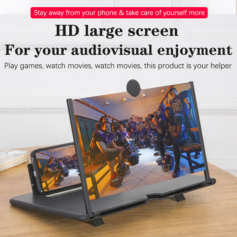 Orsda 10-inch HD 3D Mobile Phone Screen Amplifier Universal Video For Iphone Samsung Huawei Millet Phone Stand Screen 4